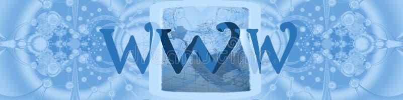 连接数标头互联网宽世界 库存例证