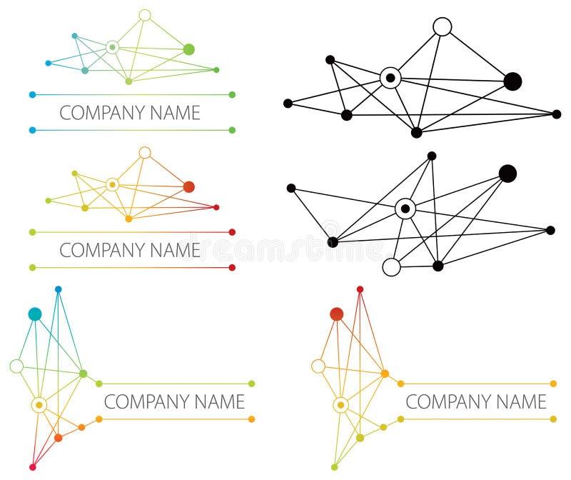 连接数网络徽标 向量例证