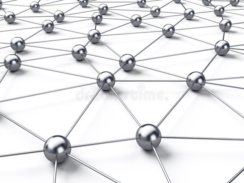 连接数网络 向量例证