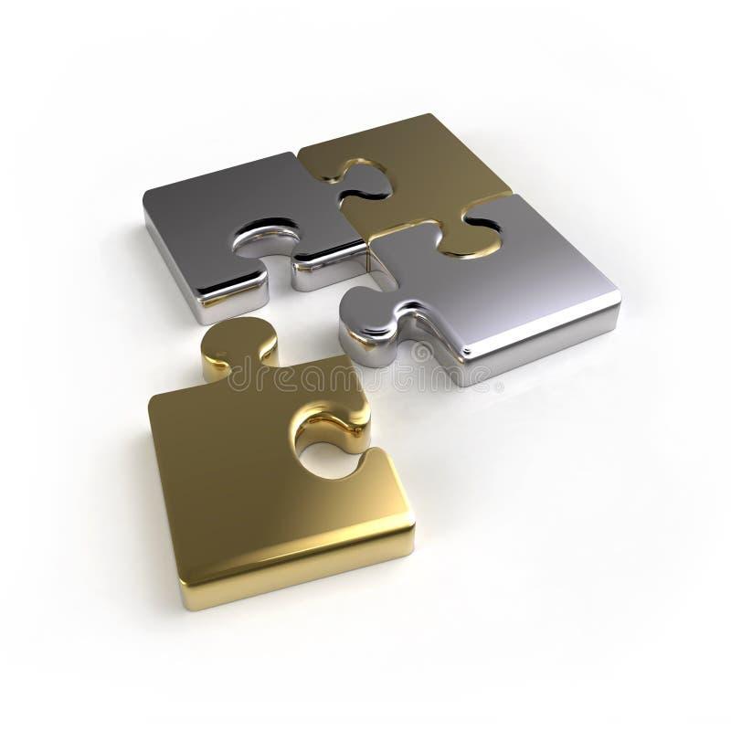 连接数金属难题 向量例证