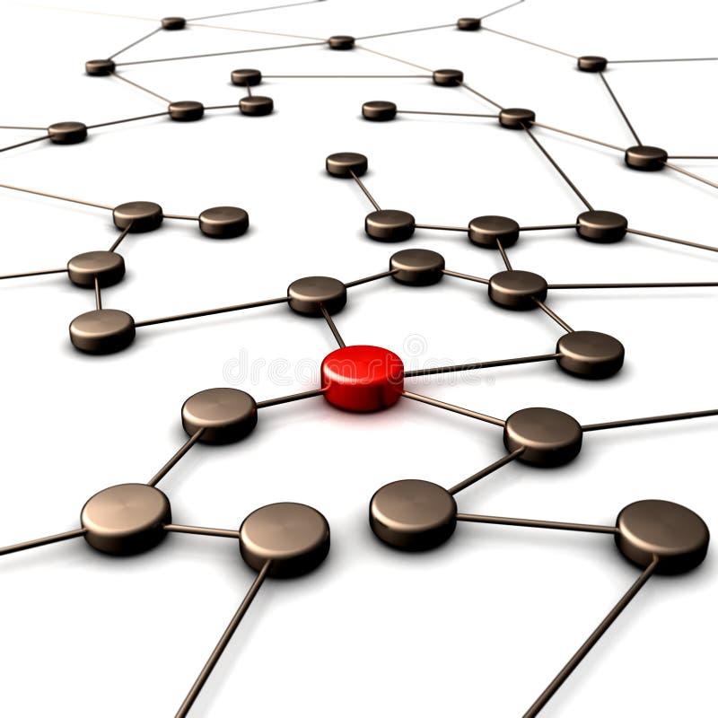 连接数领导 向量例证