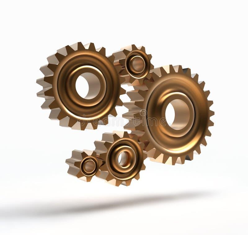 连接数齿轮 库存例证