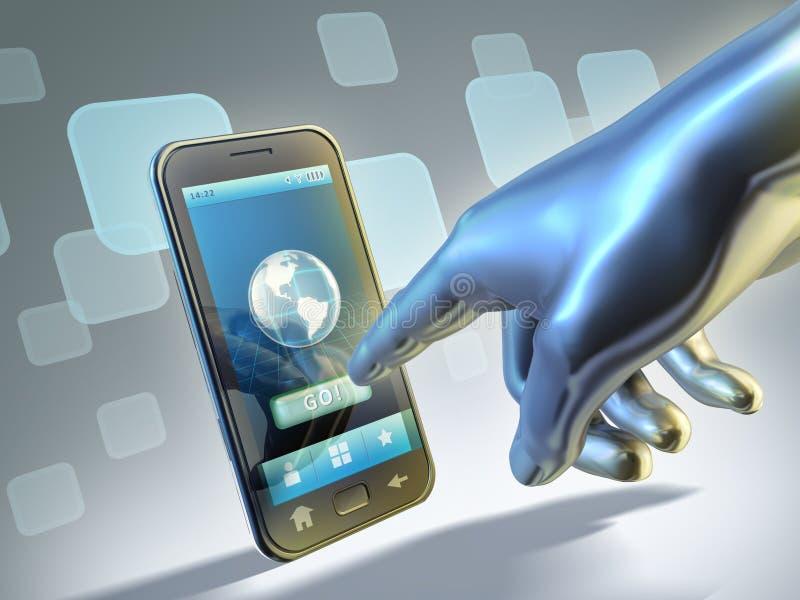 连接数smartphone 向量例证