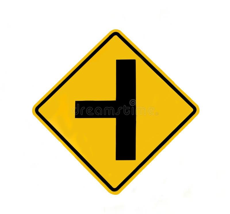 连接点交通标志 免版税图库摄影