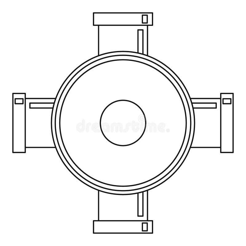 连接用管道输送象,概述样式 库存例证