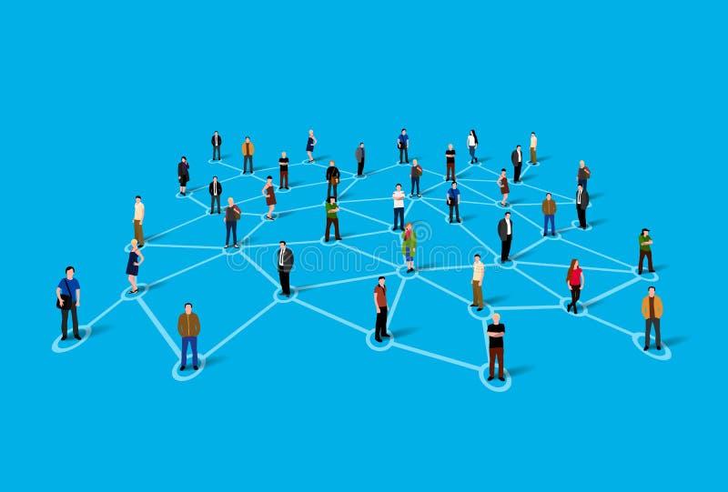 连接的人民 概念数位生成了喂图象网络res社交 皇族释放例证