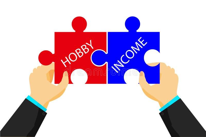 连接的例证在爱好和收入之间 向量例证