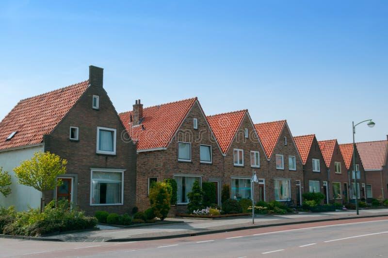 连接的房子在福伦丹 免版税图库摄影