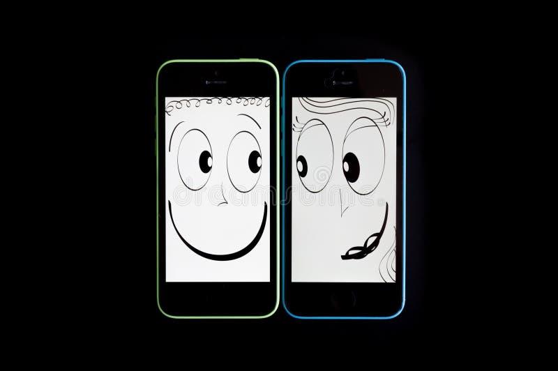 连接的智能手机挥动和 图库摄影