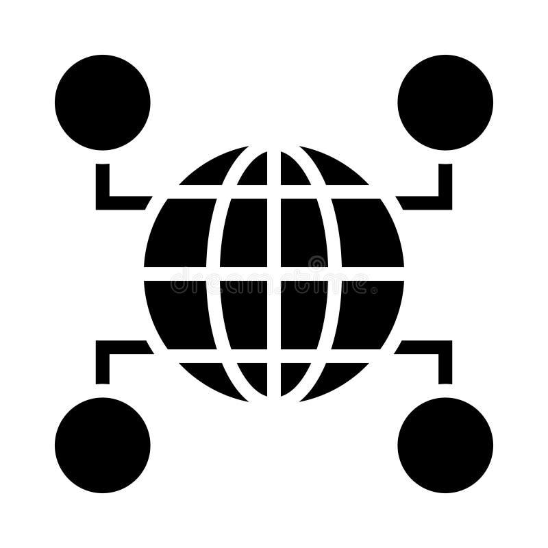 连接的用户字形图标孤立图形 EPS10简单字形元素业务和办公概念中的样式 可编辑矢量 皇族释放例证