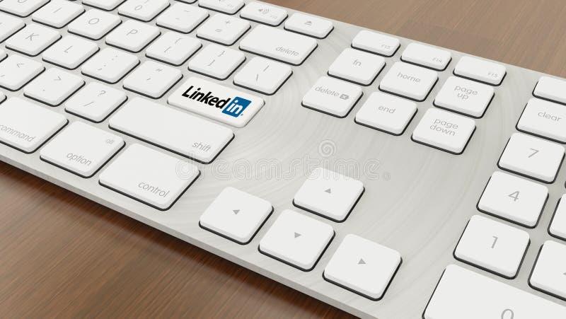 连接的键盘  免版税库存照片