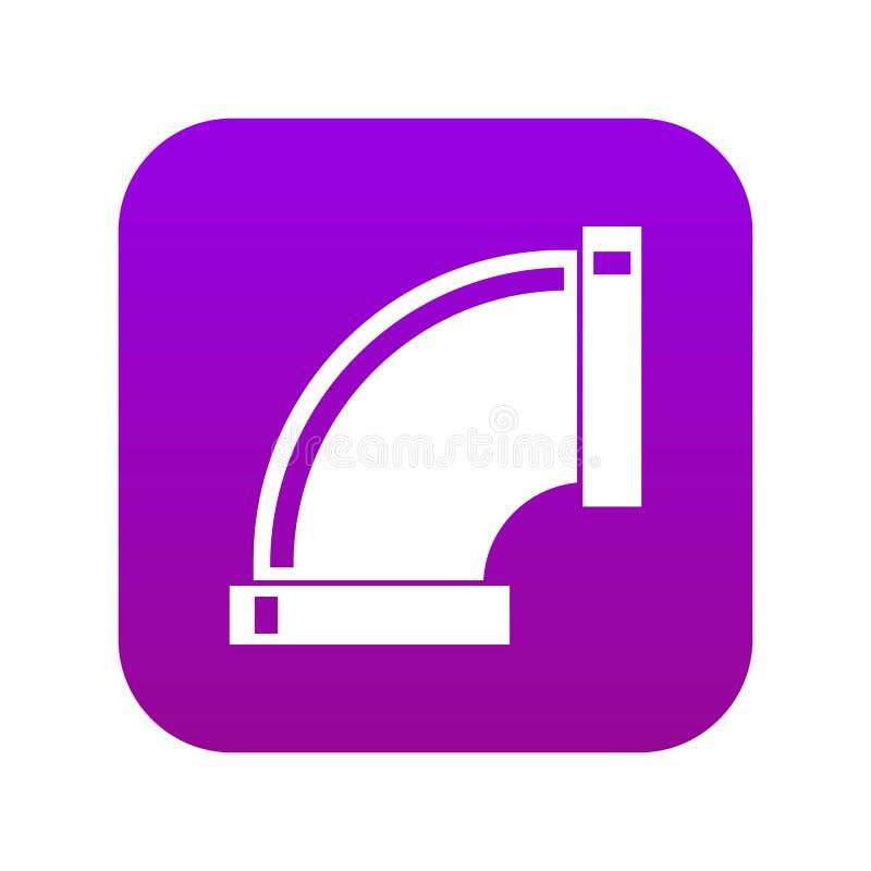 连接管子象数字紫色 向量例证