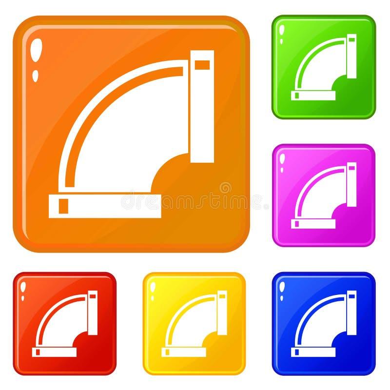 连接管子象集合传染媒介颜色 库存例证