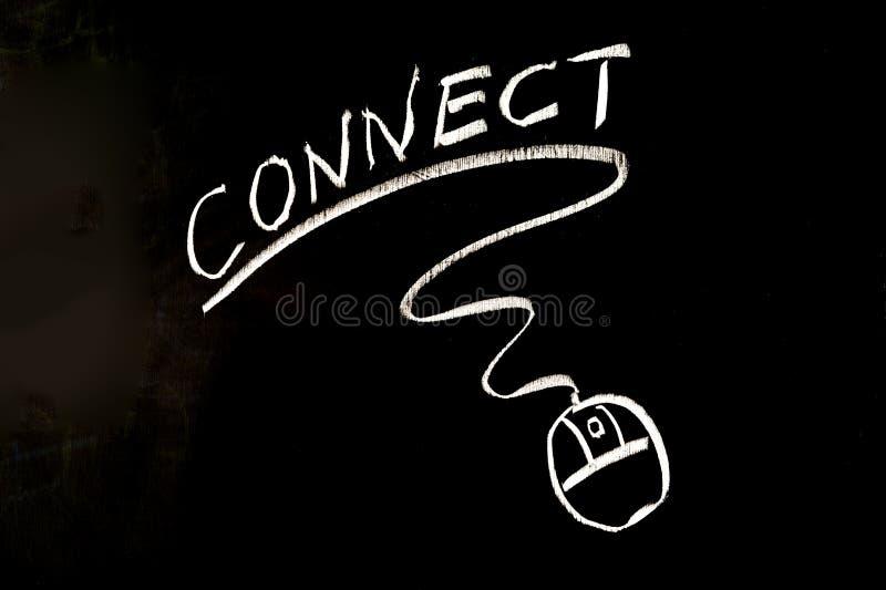 连接词和老鼠标志 库存照片