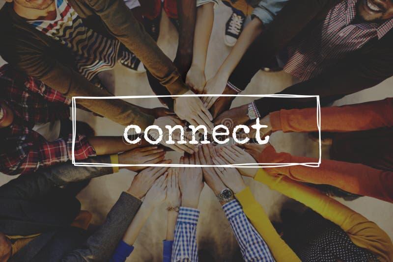 连接连接一起被连接的概念 免版税库存照片