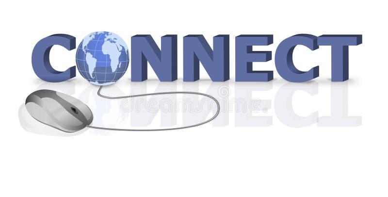 连接连接数互联网在线网站 库存例证