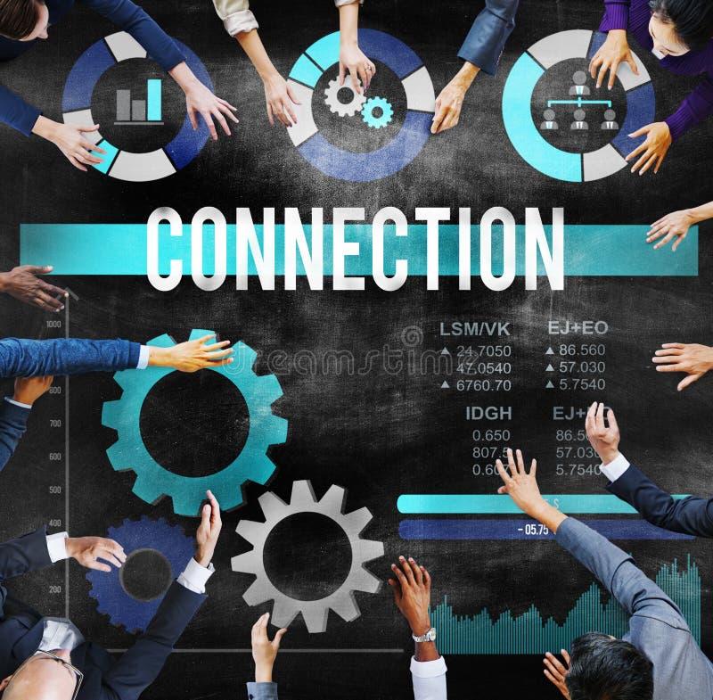连接连接Commuincation概念的连接 免版税图库摄影