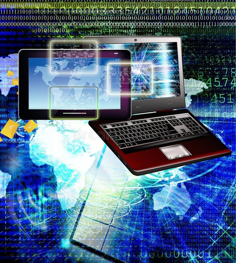 连接 一代新的计算机科技 连接数 库存照片