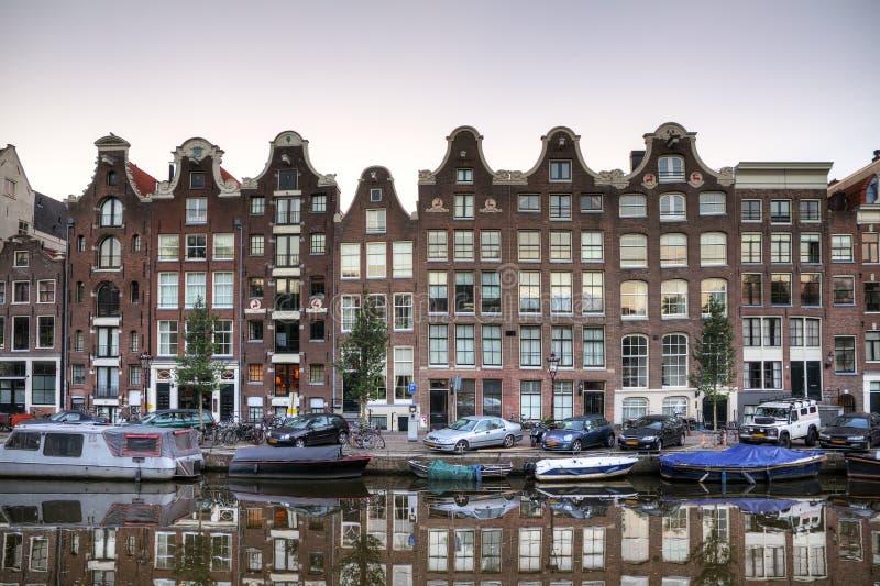 连栋房屋阿姆斯特丹 免版税库存照片