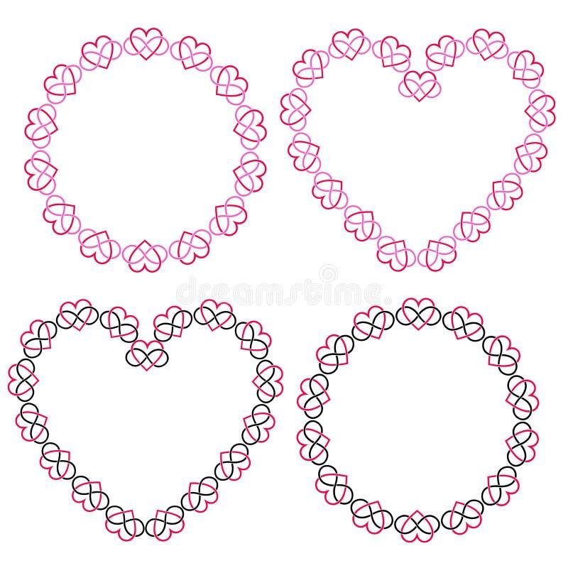 连结的心脏构筑传染媒介clipart 向量例证