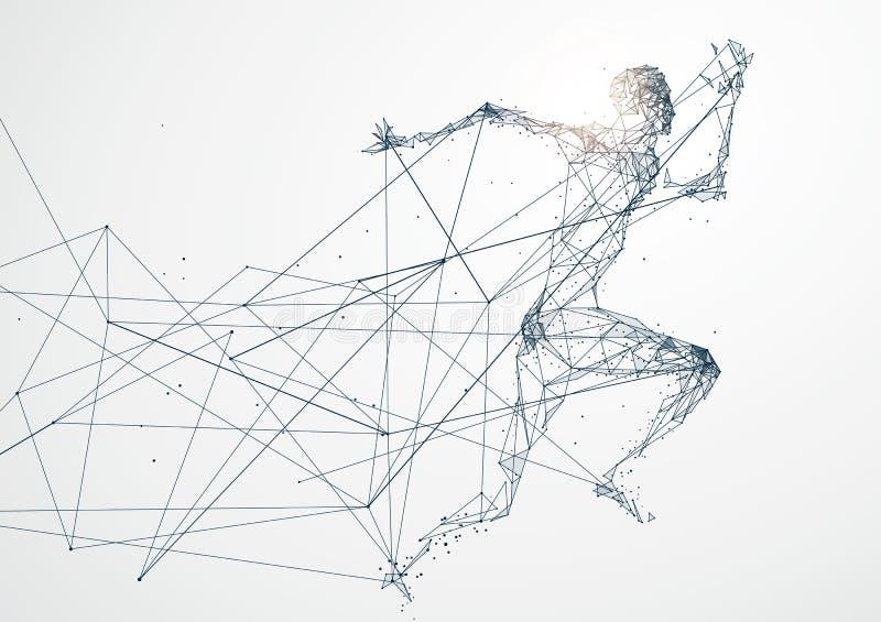 连续人,网络连接转动了入 皇族释放例证