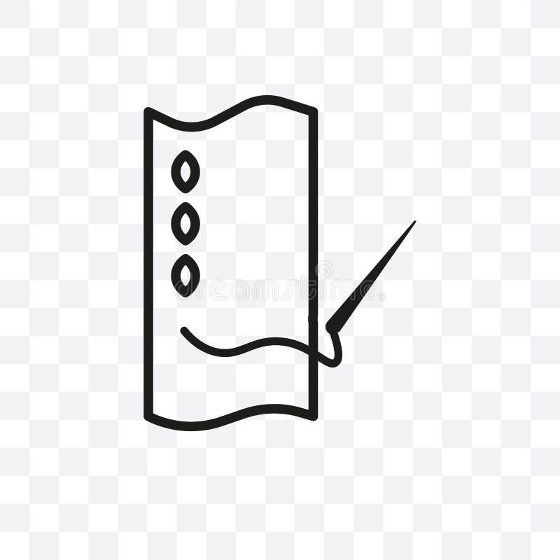 连续在透明背景隔绝的针传染媒介线性象,连续针透明度概念可以为网使用和 库存例证