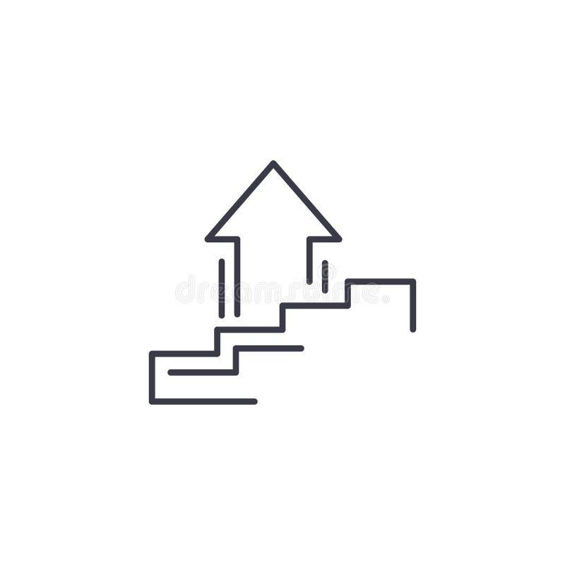 连续的成长线性象概念 连续的成长线传染媒介标志,标志,例证 库存例证