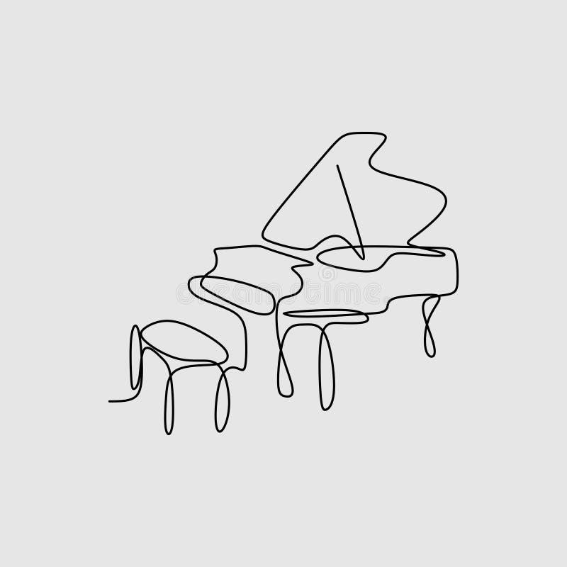 连续的画的线钢琴有最低纲领派设计特征的乐器 皇族释放例证
