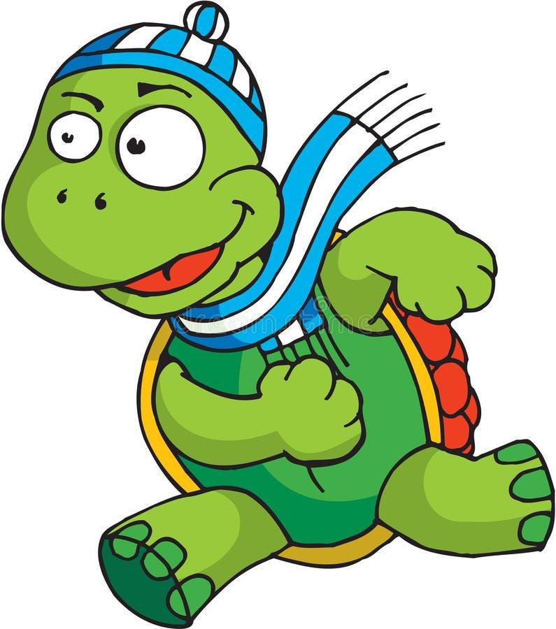 连续草龟 向量例证