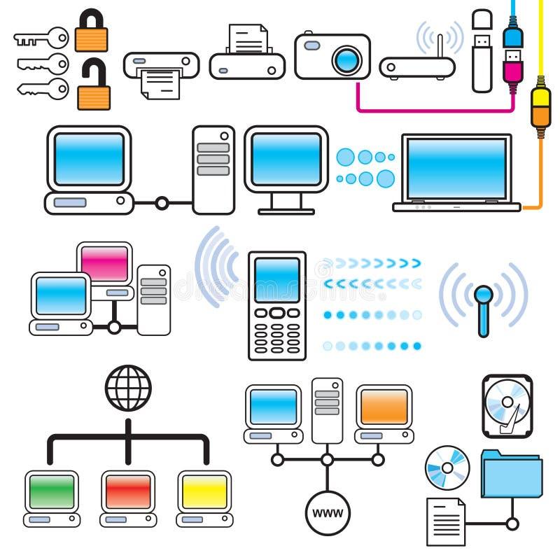 连通性设计网络连接集合技术 向量例证