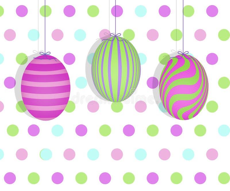 连续垂悬的复活节彩蛋 向量例证