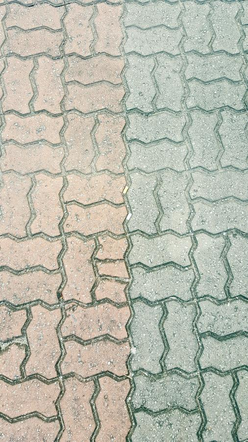 连结的色的砖 免版税库存照片