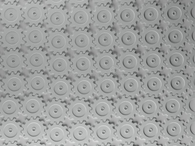 连结的齿轮样式 向量例证