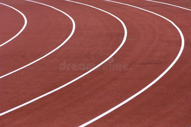连续轨道在体育场内 库存图片