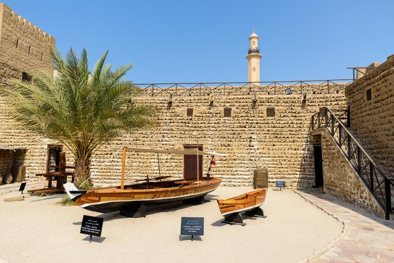 迪拜博物馆,迪拜,阿拉伯联合酋长国 免版税库存照片