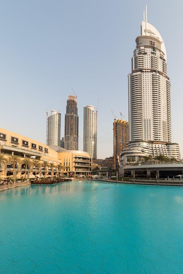 迪拜商城,在迪拜,阿拉伯联合酋长国 免版税库存照片