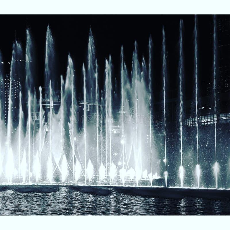 迪拜喷泉 图库摄影