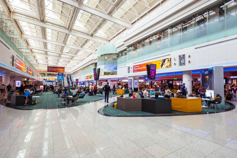 迪拜国际机场内部,阿拉伯联合酋长国 免版税图库摄影