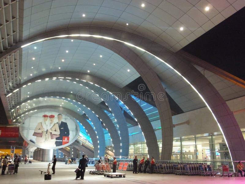 迪拜国际机场在阿拉伯联合酋长国 图库摄影