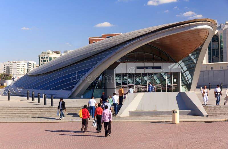 迪拜地铁车站交通 库存图片