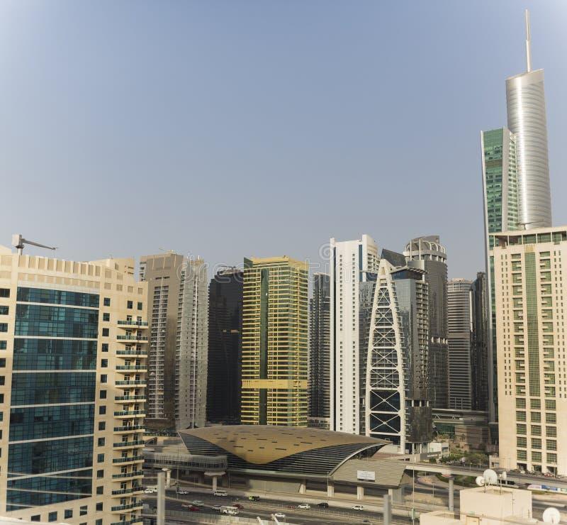 迪拜地铁车站 免版税图库摄影