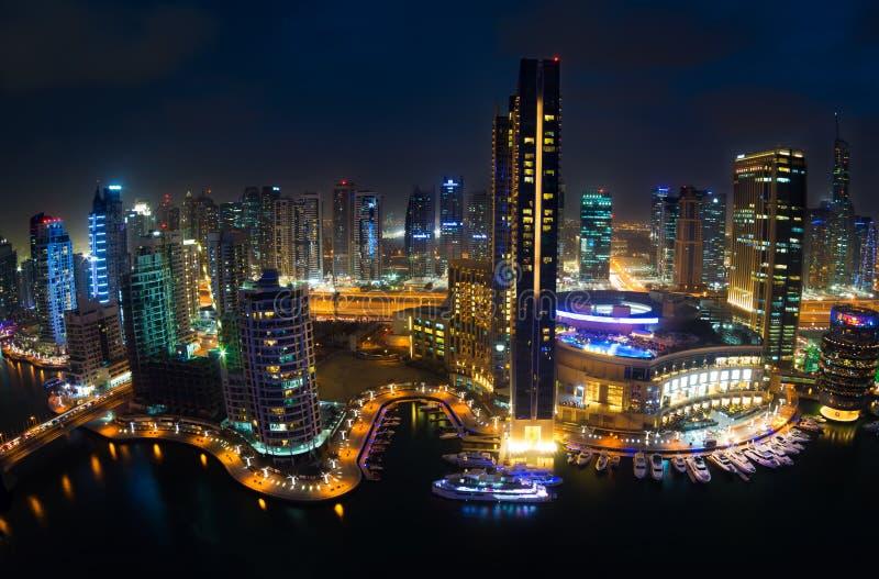 迪拜小游艇船坞视图 免版税库存照片