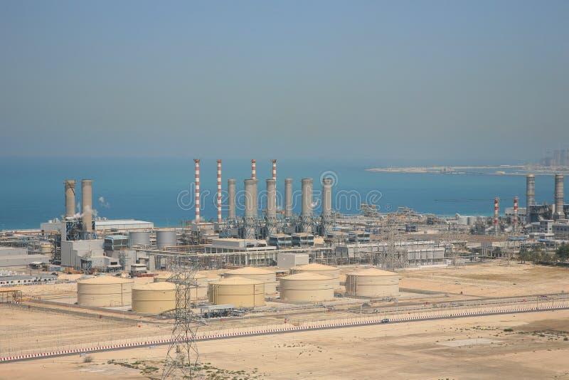 迪拜工厂用品水 图库摄影