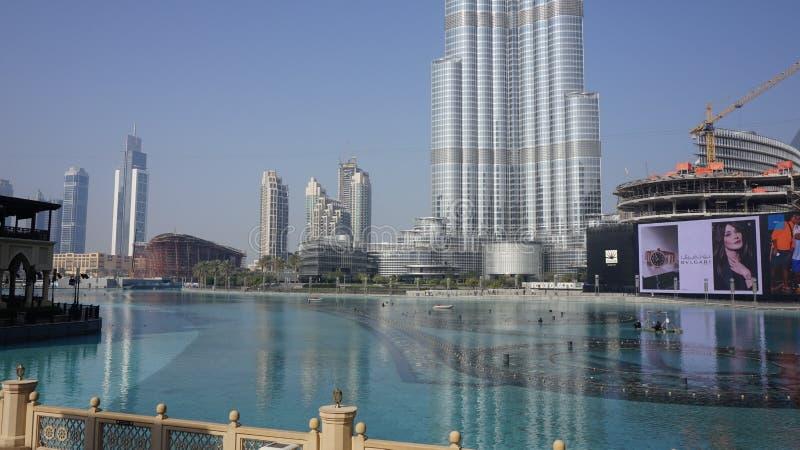 迪拜市中心 免版税库存照片