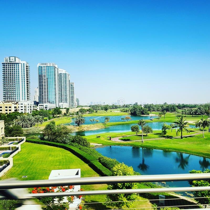 迪拜庭院 免版税库存照片