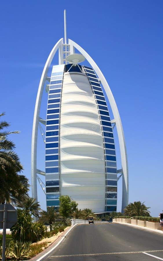 迪拜旅馆风帆 免版税库存照片