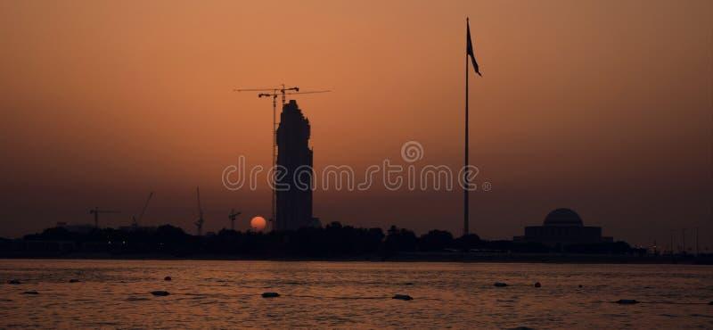 迪拜日落 免版税图库摄影