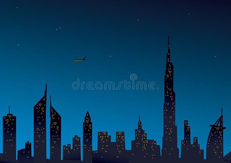 迪拜现代视图 向量例证