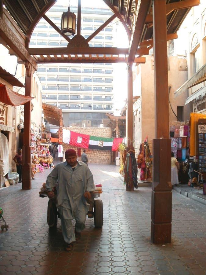 从迪拜的一个场面 免版税库存照片