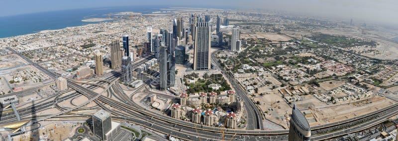 迪拜的全景 免版税库存图片